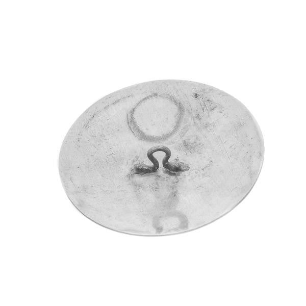 1 1/2 Inch Round Nickel Concho 1/pk