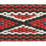 "3/4"" Embroidered Trim, Black & Red 5ft/Pkg"