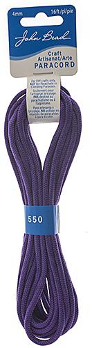 4mm Purple Parachute Cord 16ft