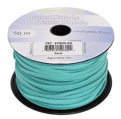 Faux Suede Aqua Lacing 50m
