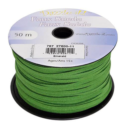 Faux Suede Emerald Lacing 50m