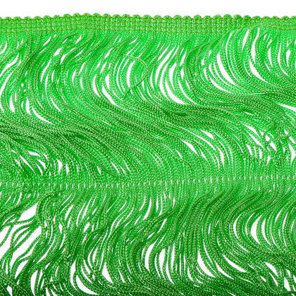 14 inch Kelly Green Chainette Fringe
