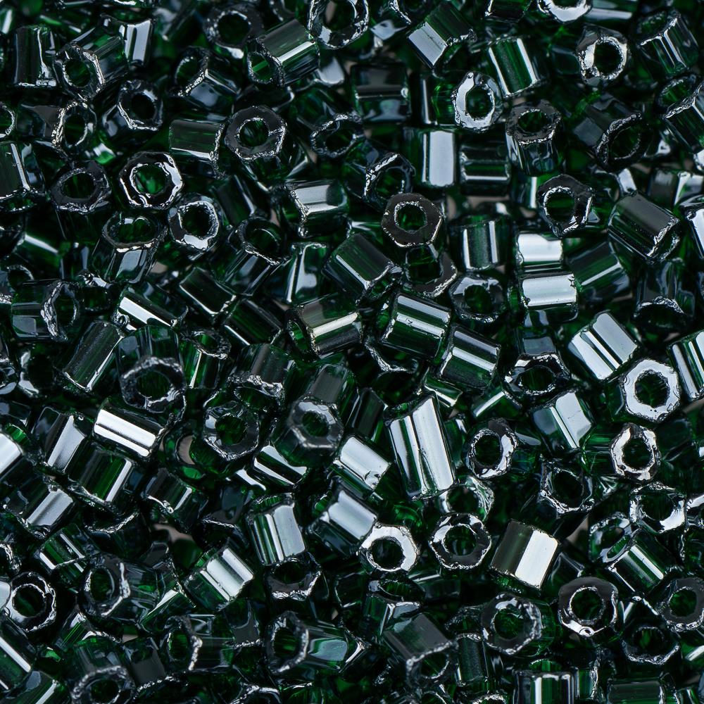 10/0 Czech 2 Cut Seed Beads Luster Dark Green 22g