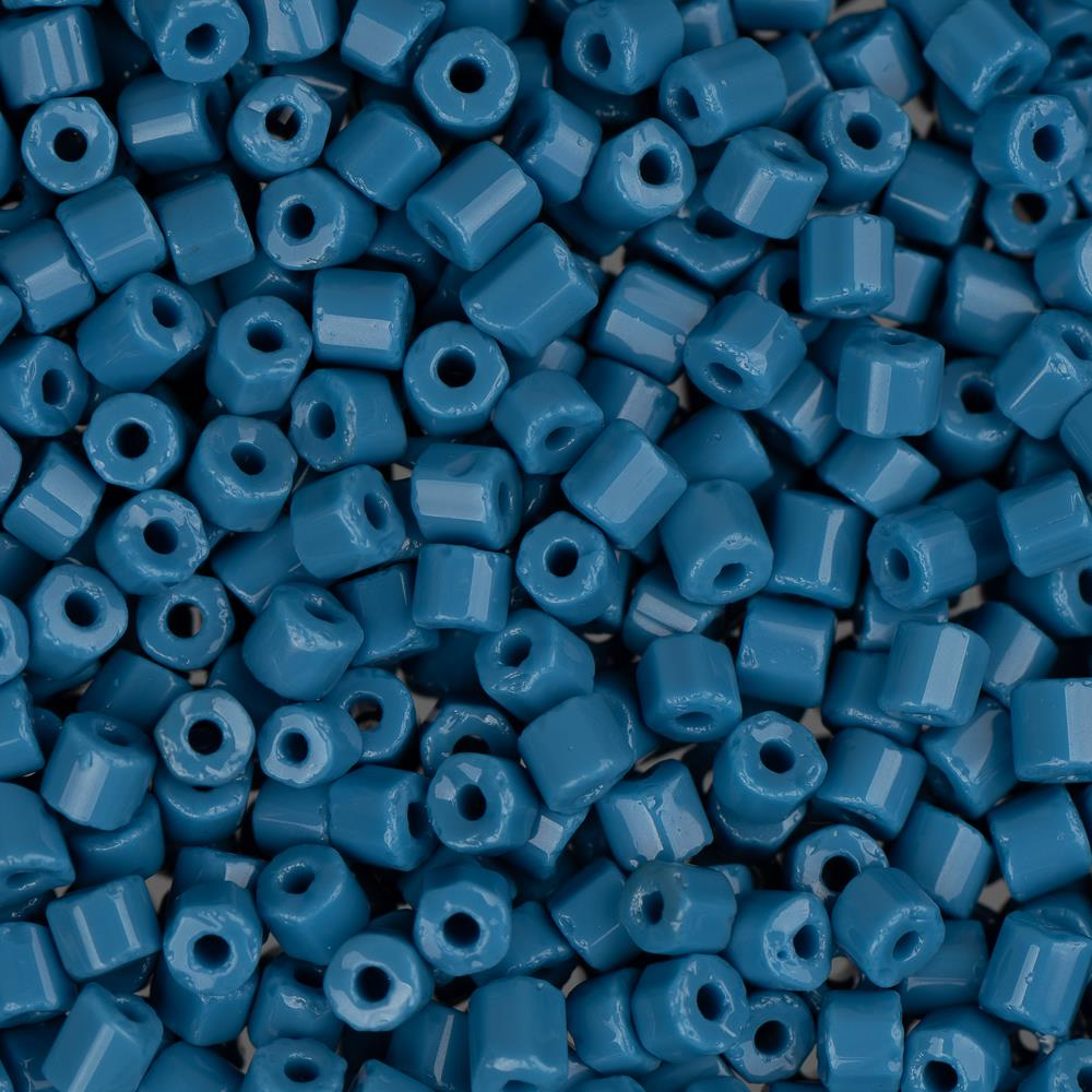 10/0 Czech 2 Cut Seed Beads Opaque Dark Blue 22g