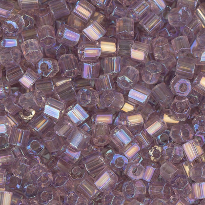 10/0 Czech 2 Cut Seed Beads Transparent Light Purple AB 22g