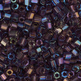 10/0 Czech 2 Cut Seed Beads Transparent Dark Purple AB 22g - i-Bead,  DARK PURPLE