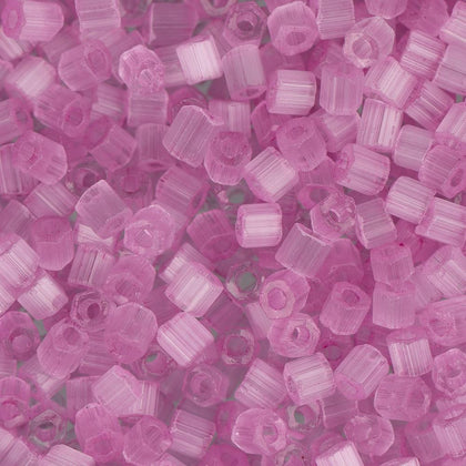 10/0 Czech 2 Cut Seed Beads Satin Light Fuchsia Solgel 22g