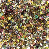 Czech Miniduo Beads 8g Magic Yellow Brown