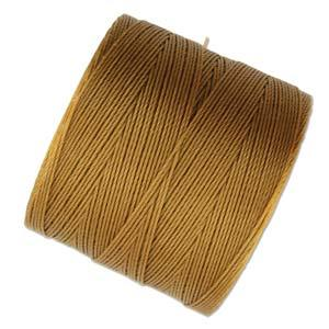 S-Lon Micro Bead Cord .12mm Gold 287yd Spool