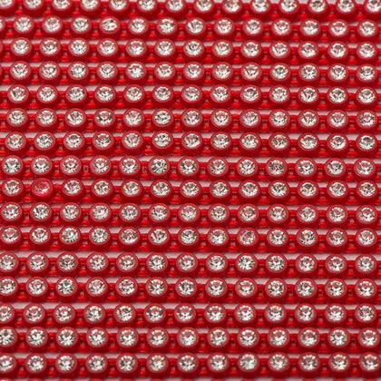 Plastic 2mm Red Rhinestone Banding by the Yard