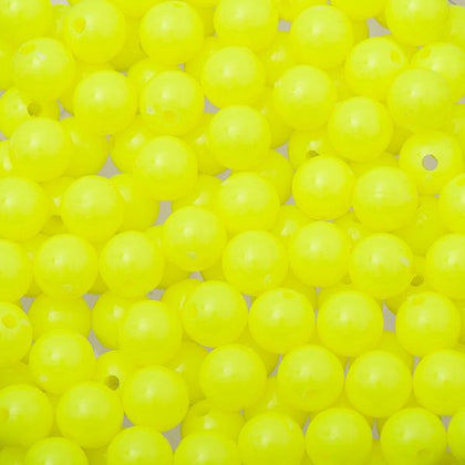 8mm Round Plastic Beads 1000/pk Fluorescent Chartreuse