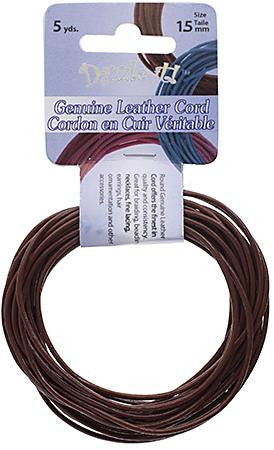 1.5mm Earthy Red Leather Cord 5yd - i-Bead,  EARTHY RED