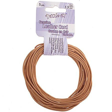 1.5mm Mangolo Leather Cord 5yd - i-Bead,  MANGOLO