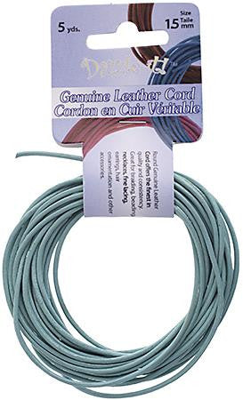 1.5mm Aqua Leather Cord 5yd - i-Bead,  AQUA