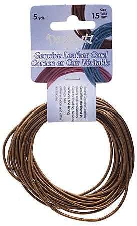 1.5mm Metallic Bronze Leather Cord 5yd - i-Bead,  METALLIC BRONZE