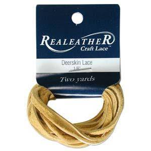 Deerskin Cream Leather Lace 2yd