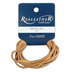 Deerskin Gold Leather Lace 2yd