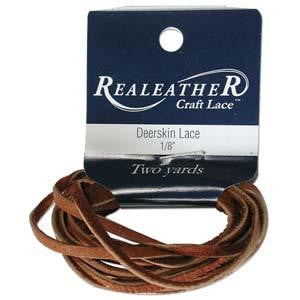 Deerskin Saddle Tan Leather Lace 2yd