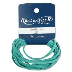 Deerskin Turquoise Leather Lace 2yd