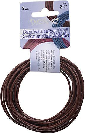 2mm Earthy Red Leather Cord 5yd