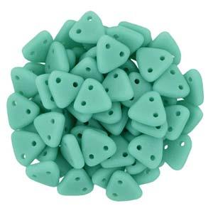 Triangle Beads Matte Turquoise 6g Vial