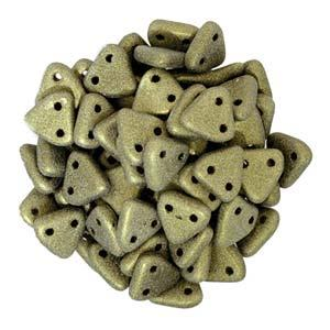 Triangle Beads Metallic Suede Gold 9g Vial