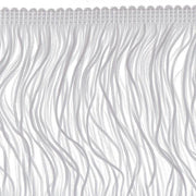14 inch White Chainette Fringe by the yard - i-Bead,  FRINGE