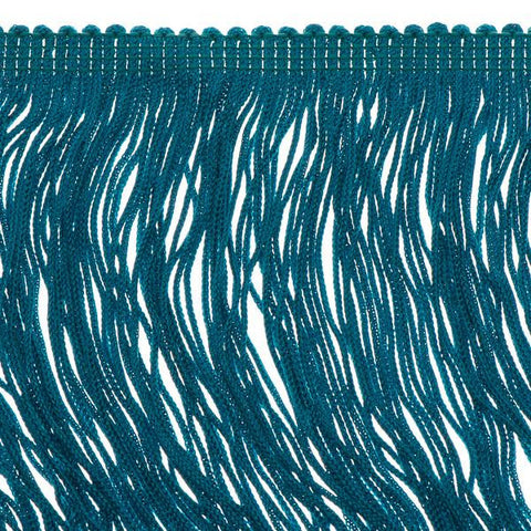 14 inch Turquoise Green Chainette Fringe by the yard - i-Bead,  FRINGE