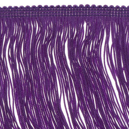 14 inch  Haskell Purple Chainette Fringe by the yard - i-Bead,  FRINGE