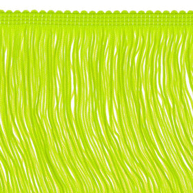 14 inch Neon Yellow Chainette Fringe by the yard - i-Bead,  FRINGE
