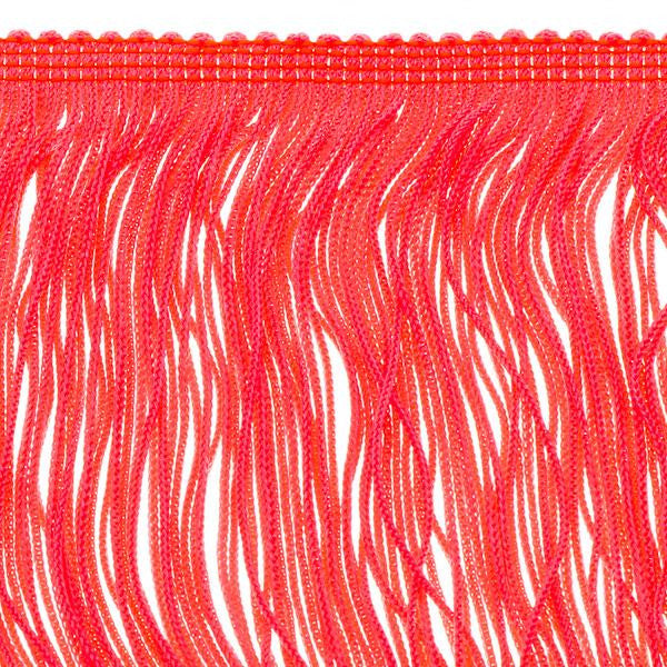 14 inch Neon Orange Chainette Fringe by the yard