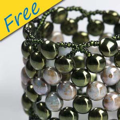 Mossy Cushion Bracelet - Made With Czech Glass Candy Beads