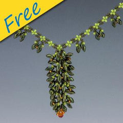 Blooming Vine Necklace - Using Magatamas and Seed Beads