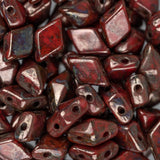 5x8mm Czech Diamonduo Beads Coral Bronze 5.5g