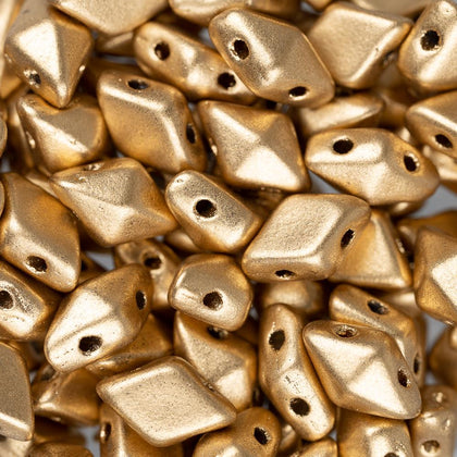 5x8mm Czech Diamonduo Beads Matte Gold 5.5g