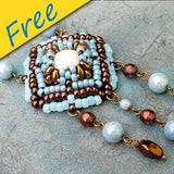 Casablanca Pendant - Using Superduos and Matubo Beads