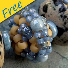 Faux Lampwork Rondelles - Using Natubo and Seed Beads