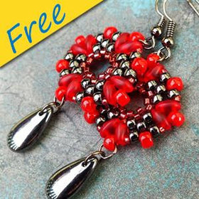 Rosetta Earrings - Using Superduos and Matubo Beads
