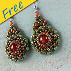 Kashmir Earrings - Using Superduos, Seed Beads and Matubo Beads