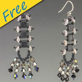 River Walk Earrings - Using Superduo and Czech Tile Beads