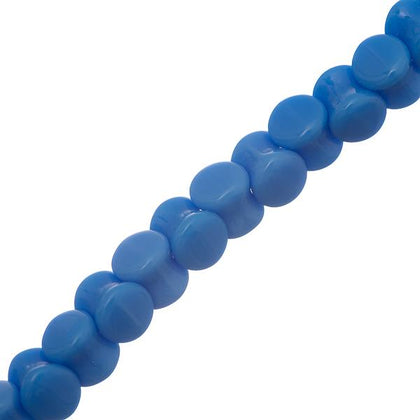 4x6mm Czech Pellet Beads Blue Alabaster