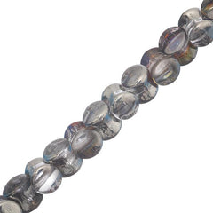 4x6mm Czech Pellet Beads Crystal Volcano Half Coated 44/Strand