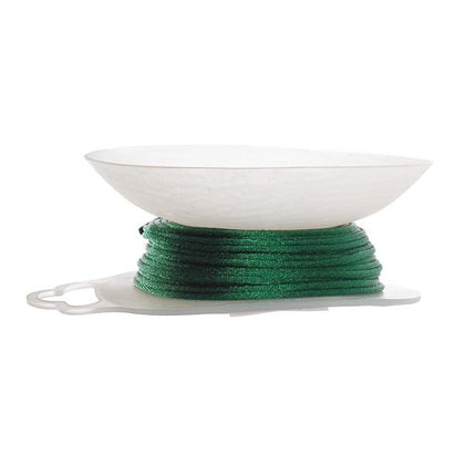 1.5mm Dark Hunter Green Rattail Cord 20yd