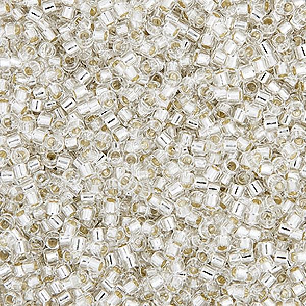 11/0 Delica Beads Silver Lined Crystal 5.2g