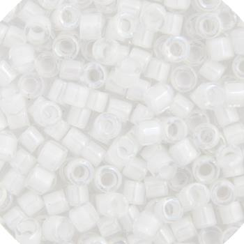 11/0 Japanese Delica Beads White AB Lined 5.2g