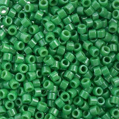 11/0 Japanese Delica Beads Opaque Kelly Green 5.2g