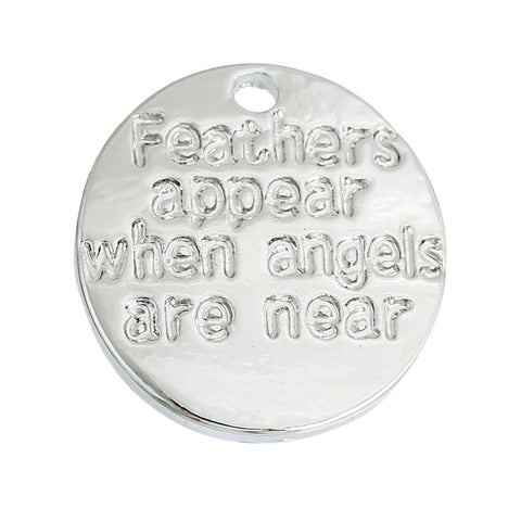 "5/8"" Feathers Appear When Angels Are Near Charm 5/pk"