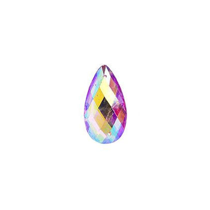 Pink AB 11x18mm Tear Drop Sew On Stone 20/pk