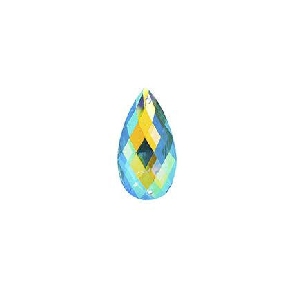 Turquoise AB 11x18mm Tear Drop Sew On Stone #9025-07 20/pk