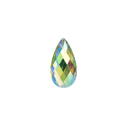 Lime Green AB 11x18mm Tear Drop Sew On Stone #9025-14 20/pk